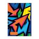 """Herlitz Sammelmappe, Jurismappe A4 """"Neon Art""""..."""