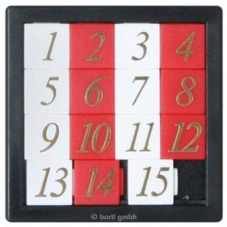 Zahlenschiebepuzzle, 6,5 x 6,5 x 0,5 cm