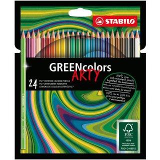 "STABILO GREENcolors / FSC-zertifizierter Buntstift, 24er Kartonetui ""ARTY"""
