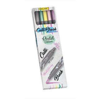 Calli.Brush Double Tip Set, Brushpenset pastell, VE = 5 Farben