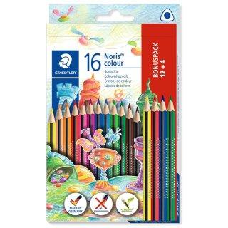 Farbstiftetui Noris colour dreikant, 16er Papp-Etui, aus WOPEX Material,