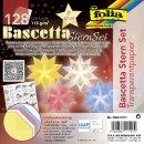 Bascetta-Stern Bastelset, Faltblätter 7,5 x 7,5cm, 898/0707, pastell, Ø ca....cm, VE = 128 Blatt