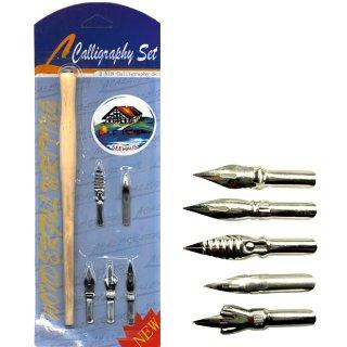Calligraphy Set - Halter + 5 Schreibfedern