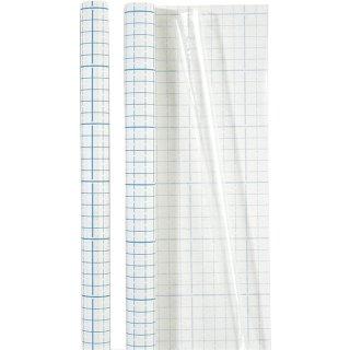 Bucheinbandfolie 1,8x0,4m transparent, selbstheftend