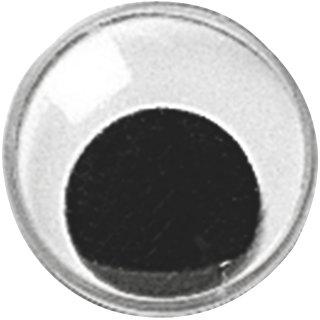Wackelauge 25 mm Durchmesser, rund mit beweglicher Pupille VE=10 Stück