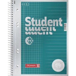 Brunnen Collegeblock Duo, Premium 90g/m² Qualität, A5, 40+40 Blatt