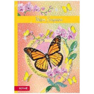 Zeugnismappe mit Schmetterling Design und Effekt