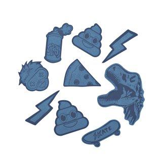 Reflektierendes Sticker-Set StickyRicky Blue  für COOCAZOO