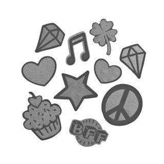 Reflektierendes Sticker-Set StickyRicky Silver für COOCAZOO