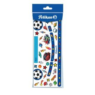 Sticker Blau / Fußball für Pelikan Deckfarbkasten