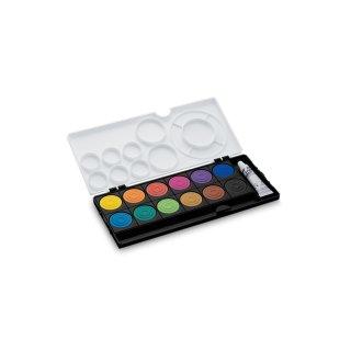 Lamy Deckfarbkasten aquaplus mit 12 Farben, Edition black