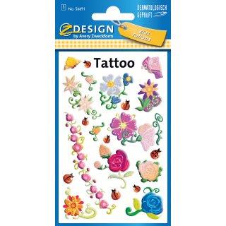 """AVERY Zweckform ZDesign KIDS Tattoos """"Blumen & Ranken"""""""