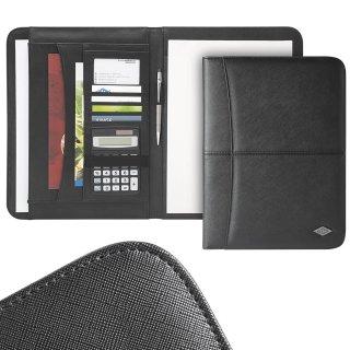 WEDO® Schreibmappe Accento A4 schwarz  mit Block