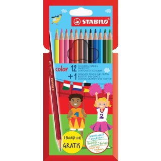 Stabilo color Buntstift 12er Etui + 1 Bleistifte