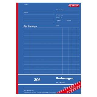 "herlitz Formularbuch ""Rechnung 306"" A4 2x40 Blatt  sd"