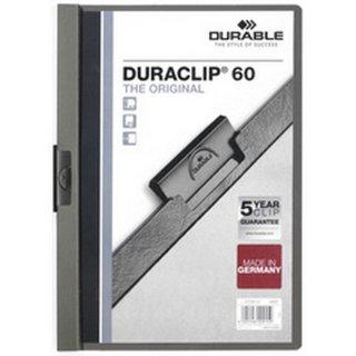 Klemmmappe für 60 Blatt grau Duraclip Original 60