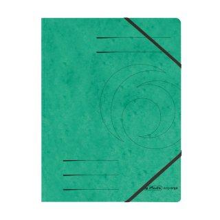 Herlitz Eckspanner easy orga A4,  Colorspan-Karton, intensiv grün mit 2 Gummizügen