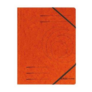 Herlitz Eckspanner easy orga A4,  Colorspan-Karton, intensiv orange mit 2 Gummizügen