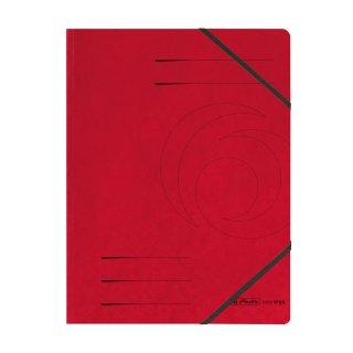 Herlitz Eckspanner easy orga A4,  Colorspan-Karton, intensiv rot mit 2 Gummizügen