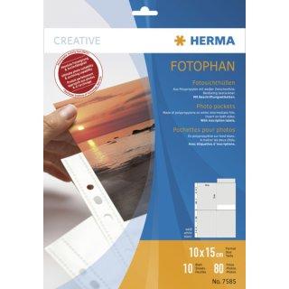 Fotoeinlageblatt A4 fotophan 10x15hoch weiss PP-Folie 10Bl