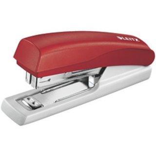 LEITZ Heftgerät Mini 5517, Heftleistung: 10 Blatt, rot