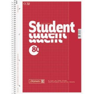 Collegeblock Student A4 kariert mit weißem Rand, Lin.26 80Blatt