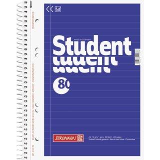 Collegeblock Student A5 liniert Rand links