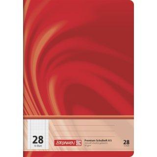"""Brunnen Premium-Schulheft A5 """"Vivendi"""" Lin.  28 16 Blatt  90g/m²"""