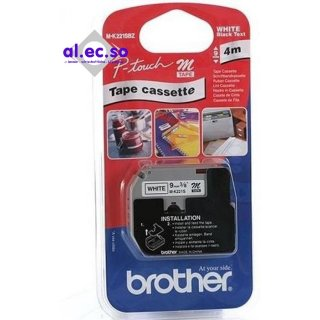 Brother M-Tape M-K221 Brother Schriftbandkassette  Bandbreite: 9 mm x4m