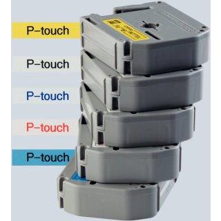Schriftbandkassette 9mmx8m sw/ws für P-touch 65-5-85-110