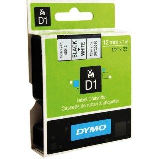 Schriftband 12mm/7m, DYMO 45013, schwarz auf weiß