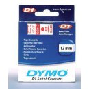 Schriftband 12mm/7m, DYMO 45015, rot auf weiß