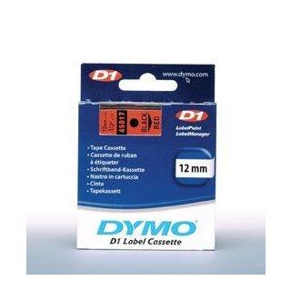 Schriftband 12mm/7m, DYMO 45017, schwarz auf rot