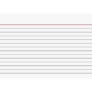 Brunnen Karteikarten A6 liniert, weiß VE=100 Stück