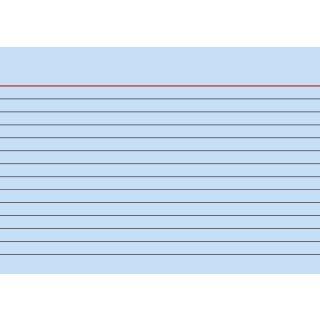 Brunnen Karteikarten A6 liniert, blau VE=100 Stück
