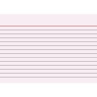 Brunnen Karteikarten A6 liniert, rot VE=100 Stück