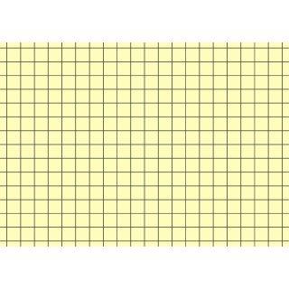 Brunnen Karteikarten A7 kariert, gelb, 1 VE = 100 Stück