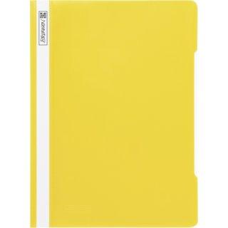 Brunnen hochwertiger Schnellhefter aus PVC- Folie, gelb  (Fb.10)