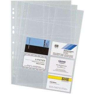 Visitenkartenhüllen A4 10 Hüllen für bis zu 200 Visitenkarten