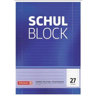 Brunnen Schulblock A4 liniert Lin27 50 Blatt