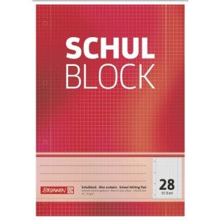 Brunnen Schulblock A4 kariert Lin28 50 Blatt