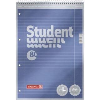 Der Neue! Student Collegeblock LH & RH, Kopfspirale, 90g/m²,  liniert Lin.27, Premium-Qualität