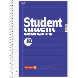 Collegeblock Student, A4 Lin27=liniert,  80 Blatt, beidseitiger Rand