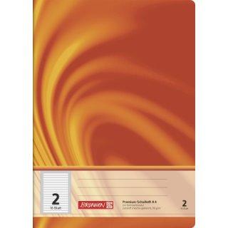 "Brunnen Premium-Schulheft A4 ""Vivendi"" Lin.  2 16 Blatt 90g/m² farbig hinterlegt"