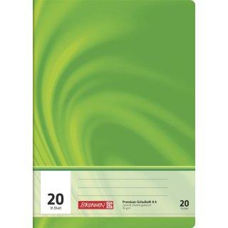 """Brunnen Premium-Schulheft A4 """"Vivendi"""" Lin. 20 16 Blatt 90g/m²"""