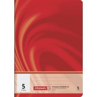 """Brunnen Premium-Schulheft A5 """"Vivendi"""" Lin.  5 16 Blatt  90g/m²"""