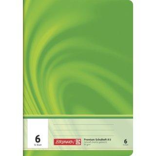 """Brunnen Premium-Schulheft A5 """"Vivendi"""" Lin.  6 16 Blatt  90g/m²"""