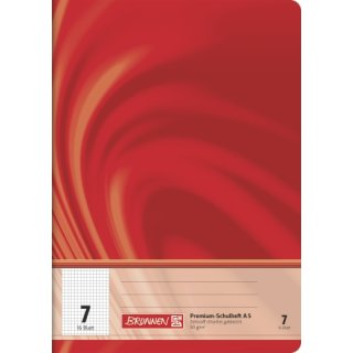 """Brunnen Premium-Schulheft A5 """"Vivendi"""" Lin.  7 16 Blatt  90g/m²"""