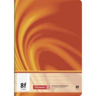 """Brunnen Premium-Schulheft A5 """"Vivendi"""" Lin. 8f 16 Blatt  90g/m²"""