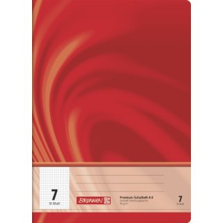 """Brunnen Premium-Schulheft A4 """"Vivendi"""" Lin.  7 16 Blatt 90g/m²"""